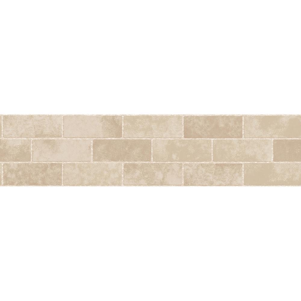 Stone Tile Peel and Stick Wallpaper Border