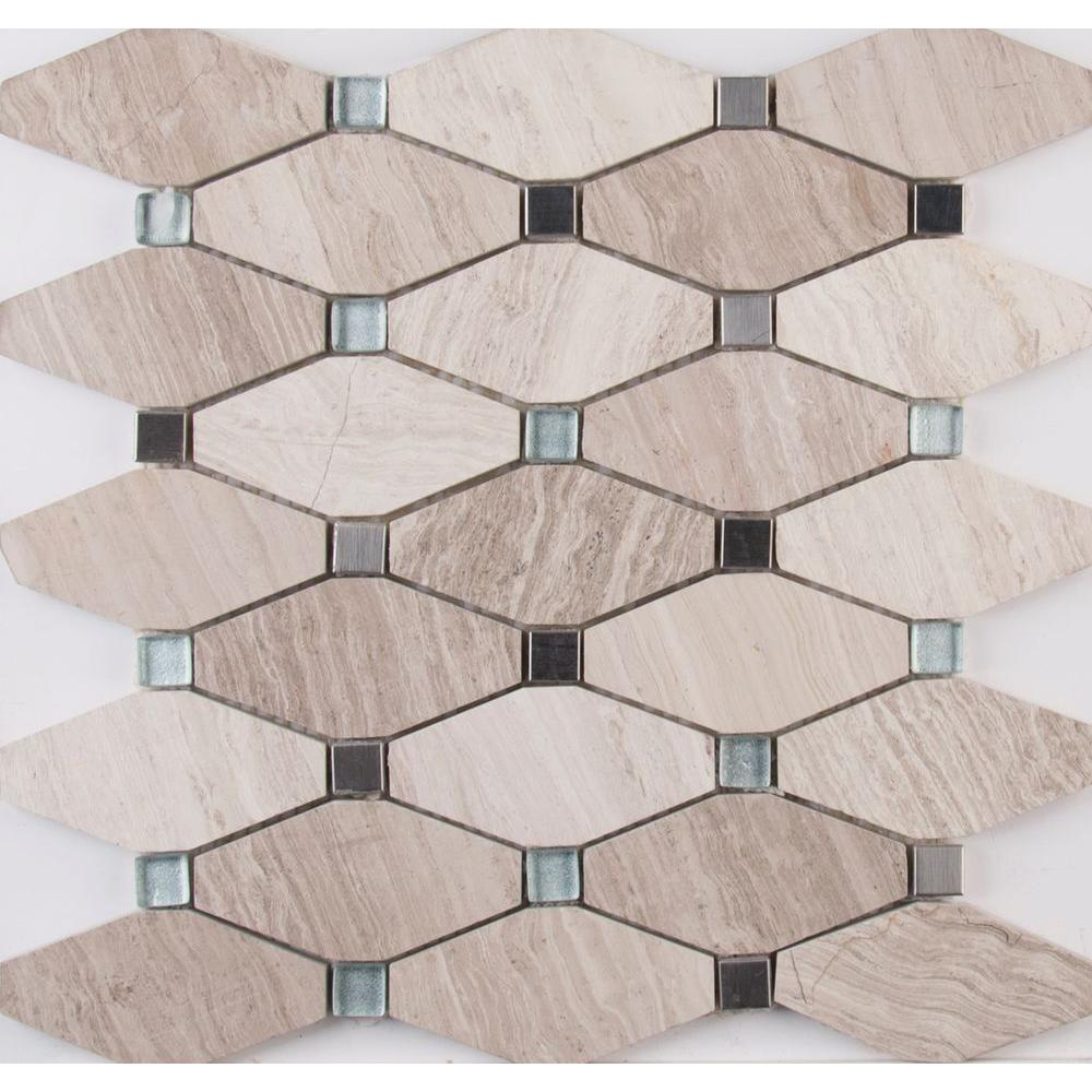 MS International Bayview Elongated Octagon 12 in. x 12 in. x 10 mm ...