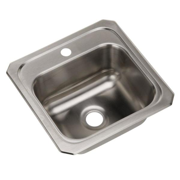 Celebrity Drop-In Stainless Steel 15 in. 1-Hole Single Bowl Kitchen Sink