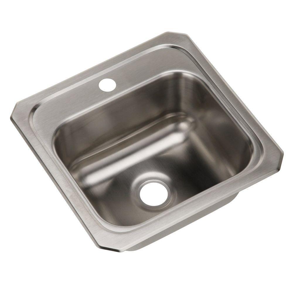 Celebrity Drop-In Stainless Steel 15 in. 1-Hole Single Bowl Kitchen Sink
