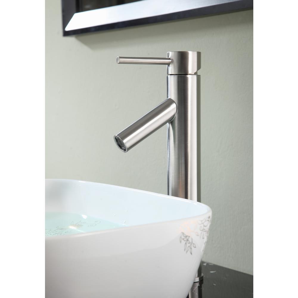 Valle Single Hole Single-Handle Bathroom Faucet in Brushed Nickel