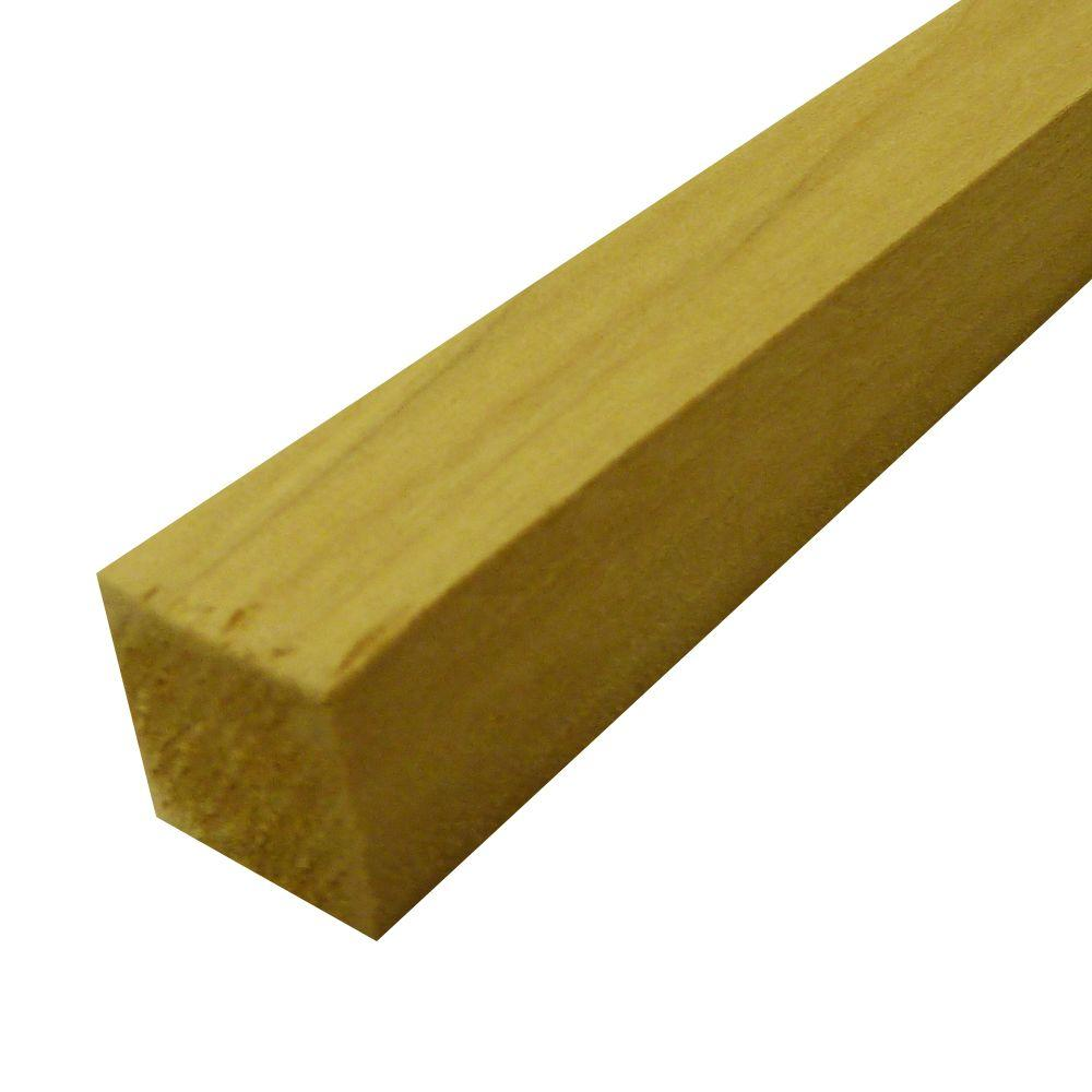 null Hardwood Squares (Common: 3/4 in. x 3/4 in. x 6 ft.; Actual: 0.75 in. x 0.75 in. x 72 in.)