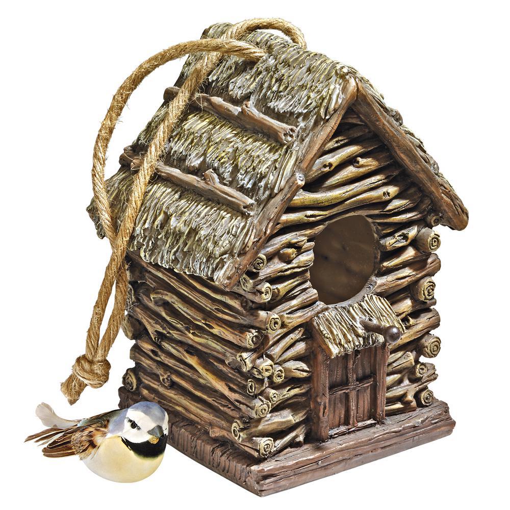 Backwoods Polyresin Cottage Multi-Species Bird House