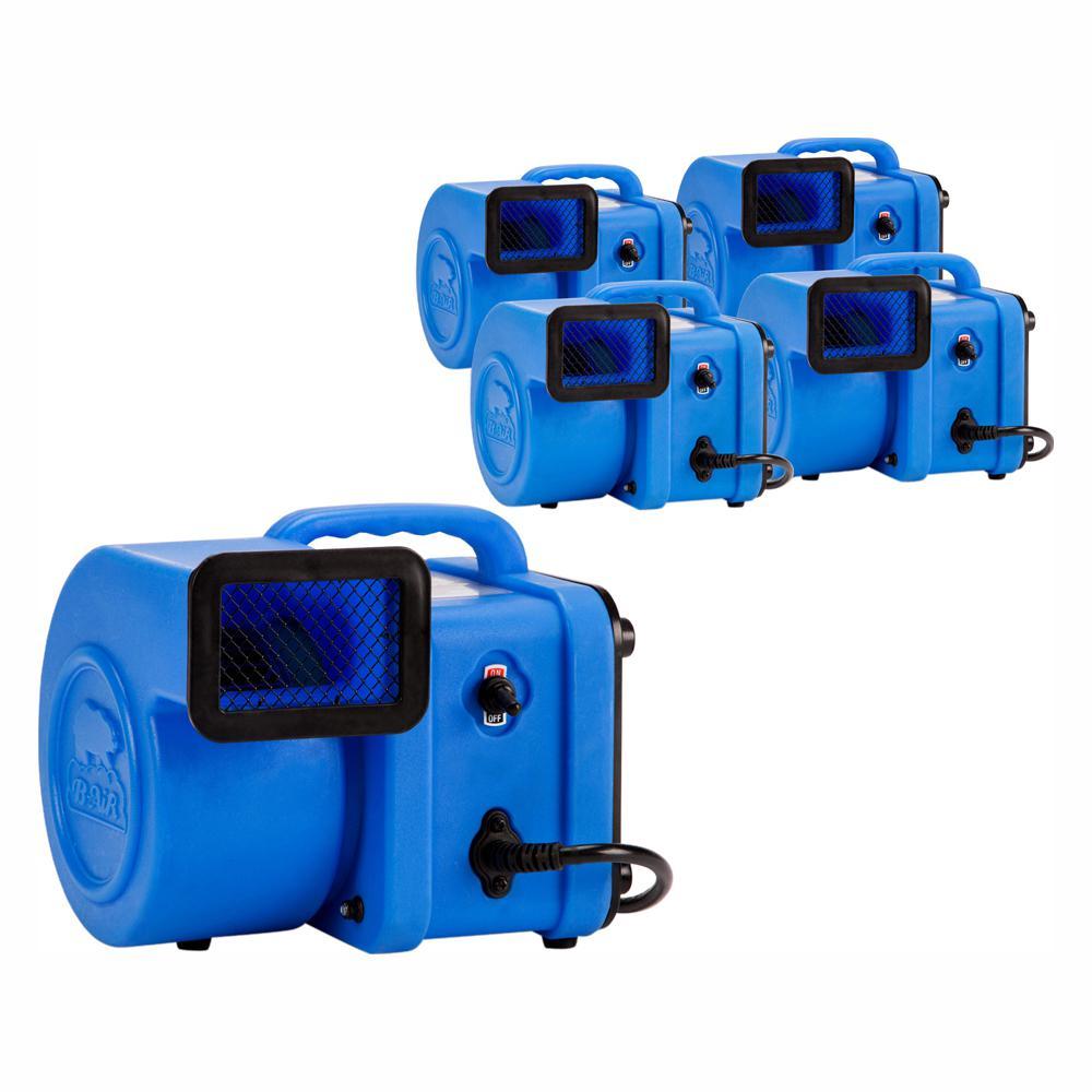 B Air 1 4 Hp Mini Air Mover For Water Damage Restoration