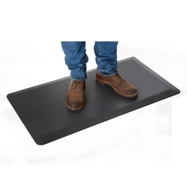 AIRLIFT Anti-Fatigue Comfort Mat for Standing Desks, 39'' x 20'' x .7'' thick, Black