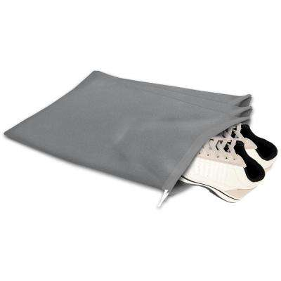 Gray Non Woven Set of Three Drawstring Storage
