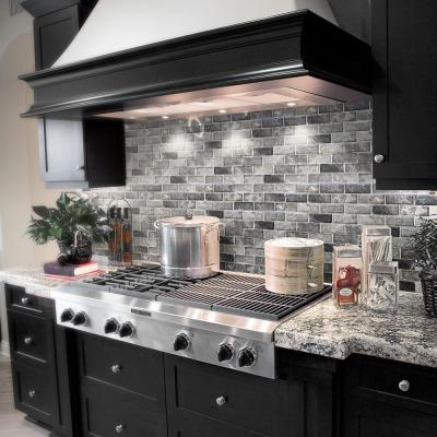 Tundra Grey 2 x 4 Beveled 10 in. x 11.75 in. Interlocking Polished Marble Mosaic Tile (0.815 sq. ft./Each)