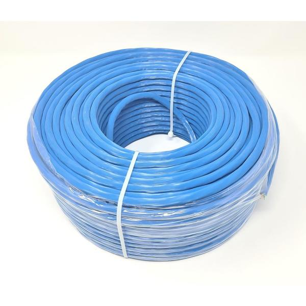 Micro Connectors Inc 250 Ft Cat 6a Solid Stp Bulk Ethernet 23 Awg Cable Blue Tr4 570shbl 250 The Home Depot