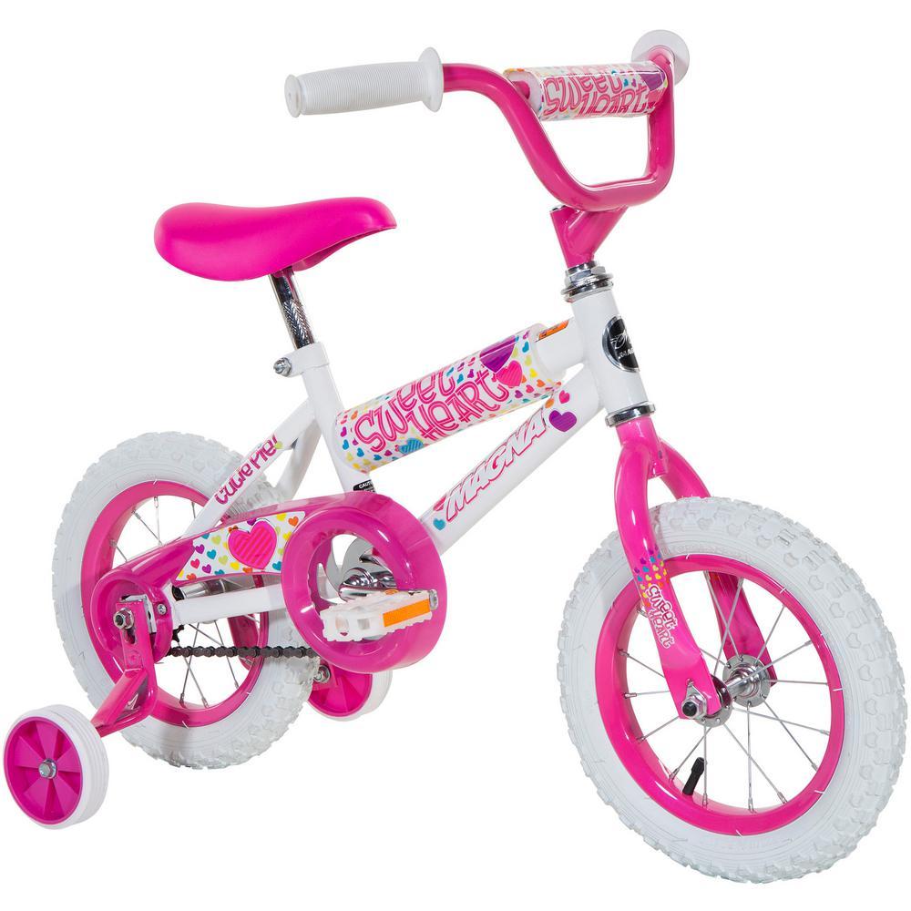 d7ec1d1097b Magna 12 in. Girls Sweetheart Bike-8008-16TJI - The Home Depot
