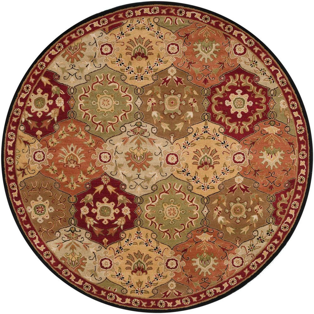 Artistic Weavers John Red 4 Ft. X 4 Ft. Round Area Rug