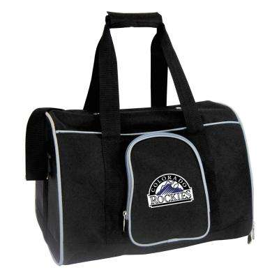 MLB Colorado Rockies Pet Carrier Premium 16 in. Bag in Gray
