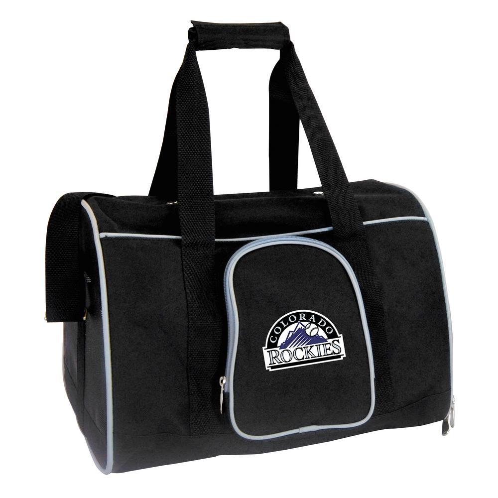 MLB Colorado Rockies Pet Carrier Premium 16 in. Bag in Gray