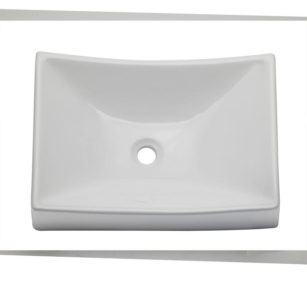 DECOLAV Classically Redefined Vessel Sink in White. DECOLAV Classically Redefined Vessel Sink in White 1446 CWH   The