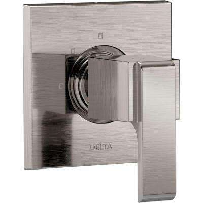 Ara 1-Handle 3-Setting Custom Shower Diverter Valve Trim Kit in Stainless (Valve Not Included)