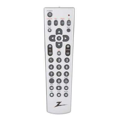 1-Device TV On -Command and Lodgenet Remote Control - Silver