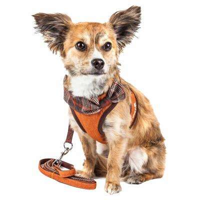 Luxe Pawsh Small 2-in-1 Adjustable Dog Harness Leash with Fashion Bowtie