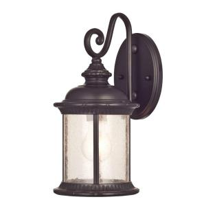 New Haven Wall Mount 1 Light Outdoor Oil Rubbed Bronze Lantern