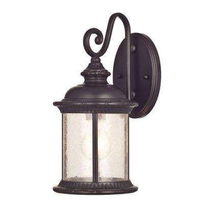 New Haven Wall-Mount 1-Light Outdoor Oil Rubbed Bronze Lantern