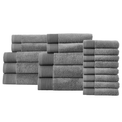 Performance Quick Dry 18-Piece Towel Set in Charcoal