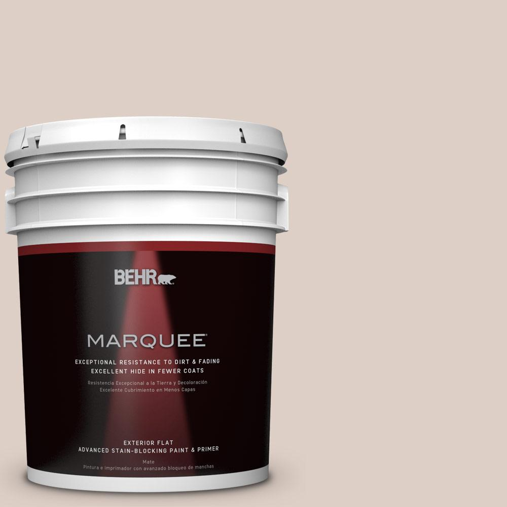 BEHR MARQUEE 5-gal. #PPL-77 Cocoa Parfait Flat Exterior Paint
