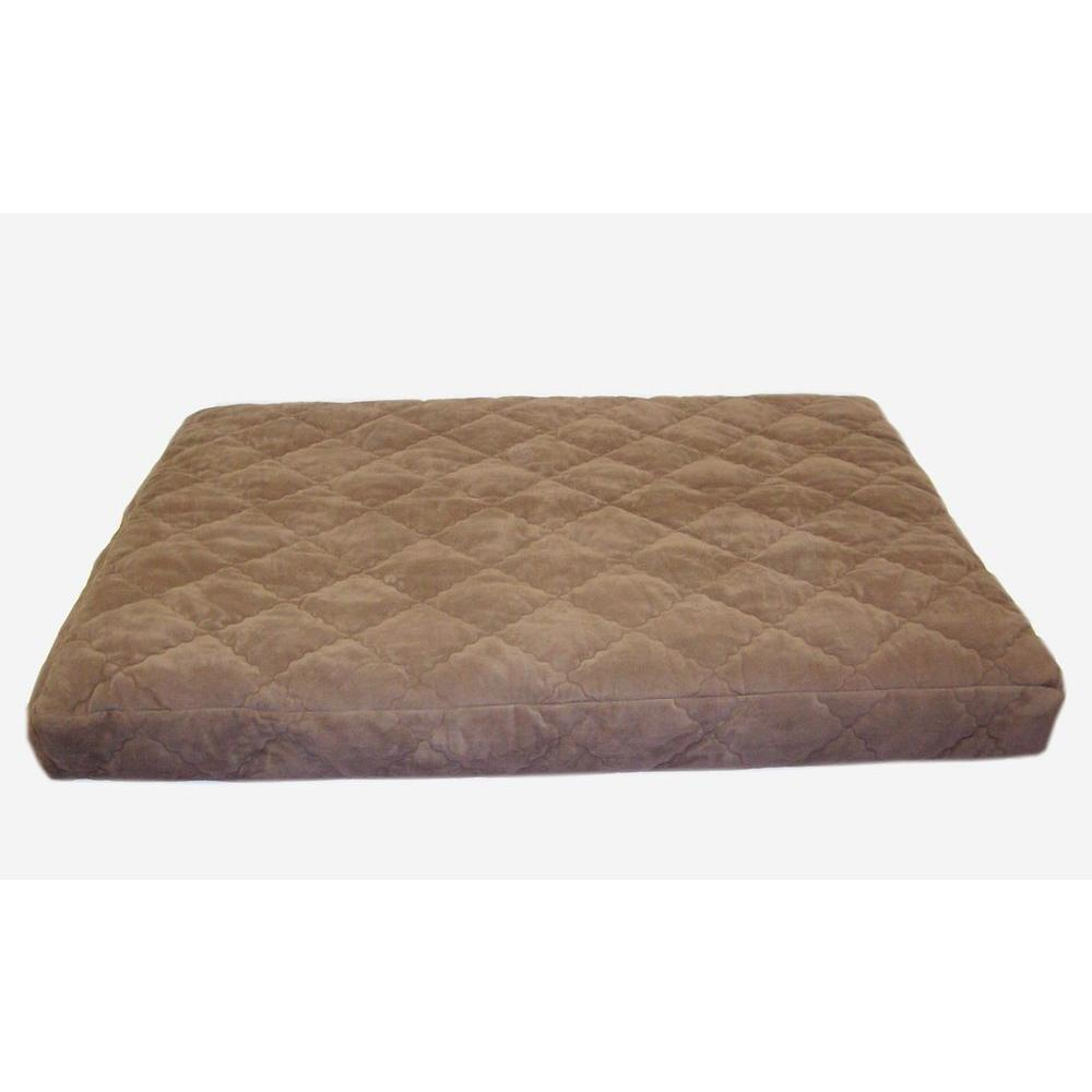 Medium Protector Pad Quilted Orthopedic Jamison Pet Bed - Chocolate