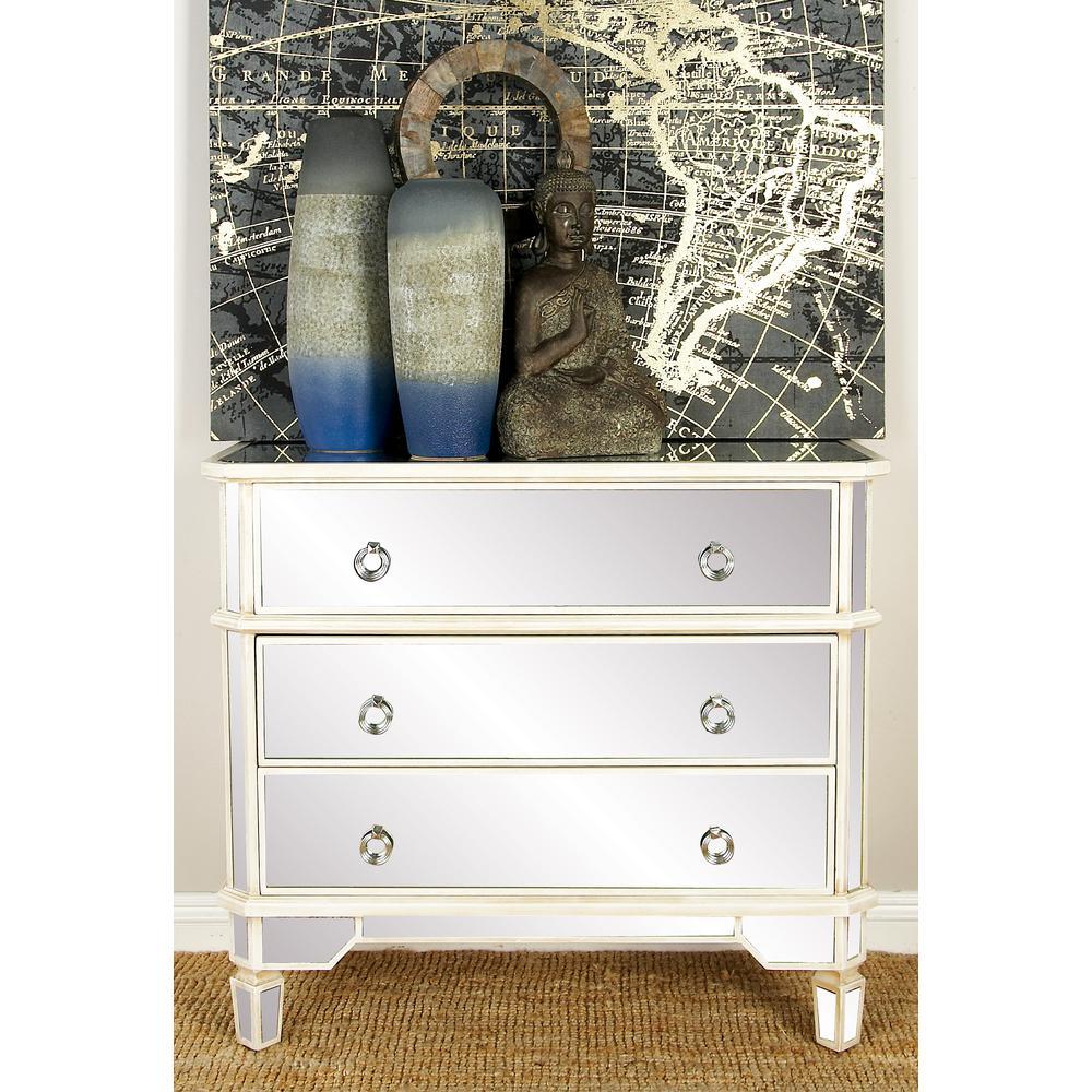 Tremendous Litton Lane Antique Green 3 Drawer Wooden Dresser 92377 Interior Design Ideas Philsoteloinfo