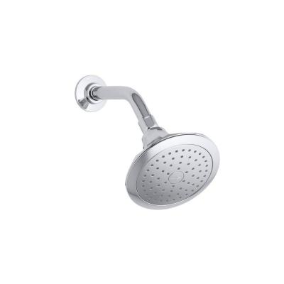Memoirs Classic  1-Spray 5.5 in. Single Wall Mount Fixed Shower Head in Polished Chrome