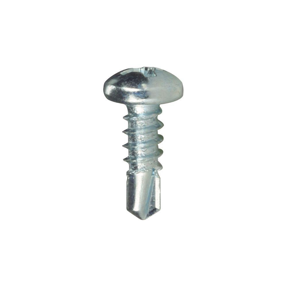 """100 BLACK FLANGED HEAD SELF TAPPING SCREWS POZIDRIVE TAPPERS NO.8 X 1/"""" INCH"""
