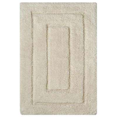 Newport Ivory 24 in. x 40 in. Cotton Bath Rug