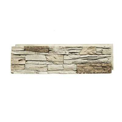 12 in. x 42 in. Stacked Stone Vanilla Bean Faux Stone Siding Panel