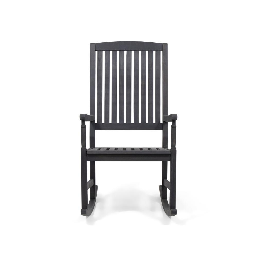 Arcadia Grey Acacia Wood Outdoor Rocking Chair