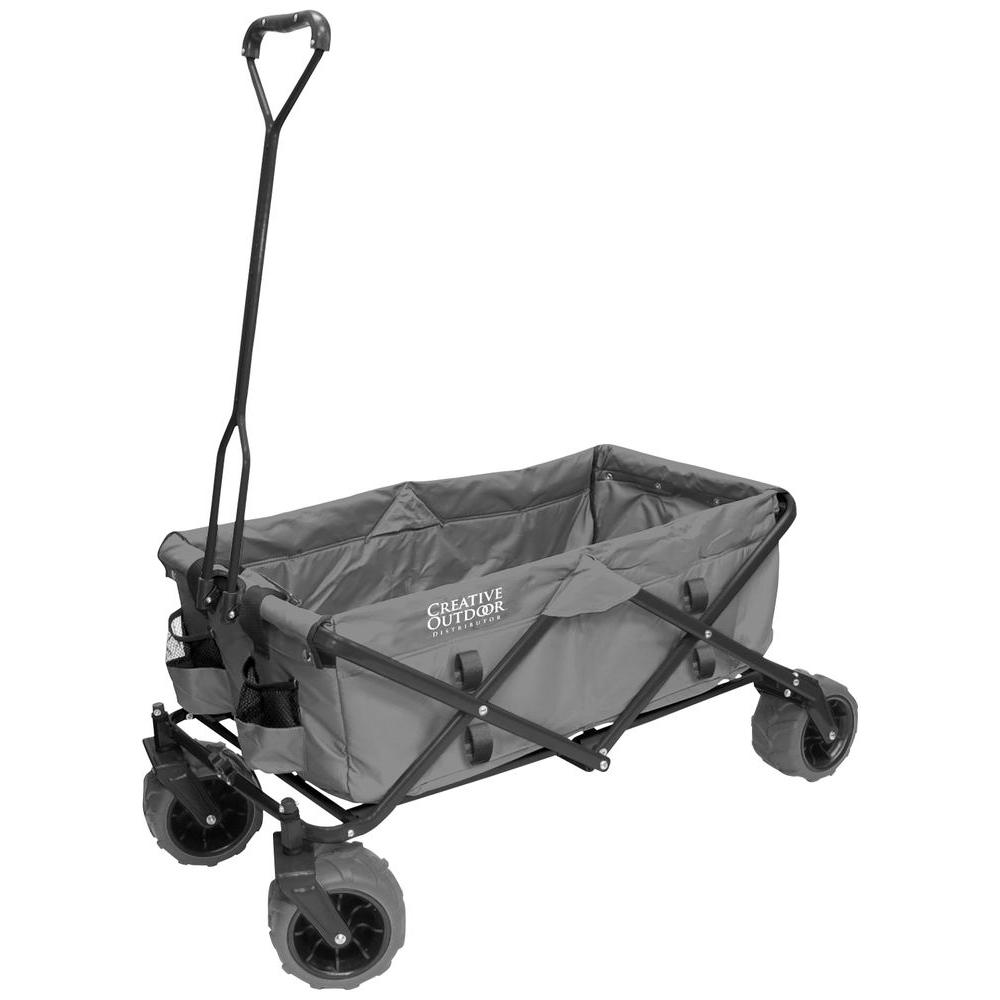 Awesome Folding Garden Wagon Carts In Gray