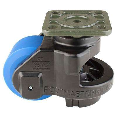 3-1/2 in. MC Nylon Wheel Top Plate Leveling Caster with Load Rating 3300 lbs.