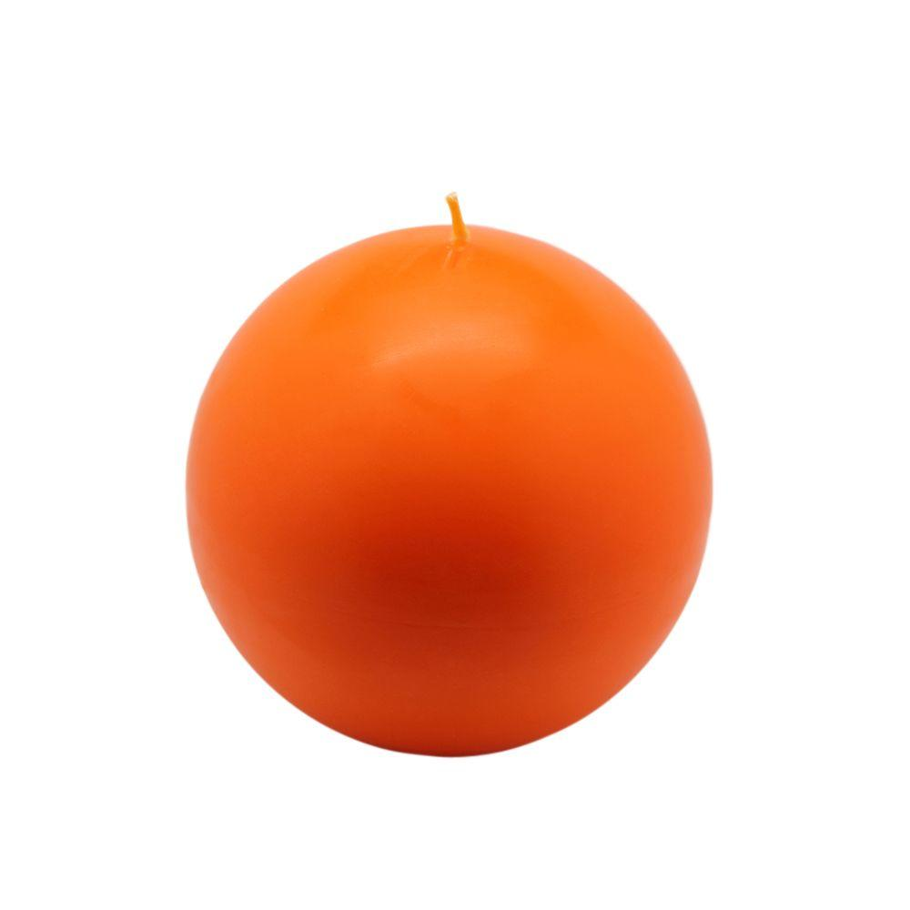 Zest Candle 4 in. Orange Ball Candles (2-Box)