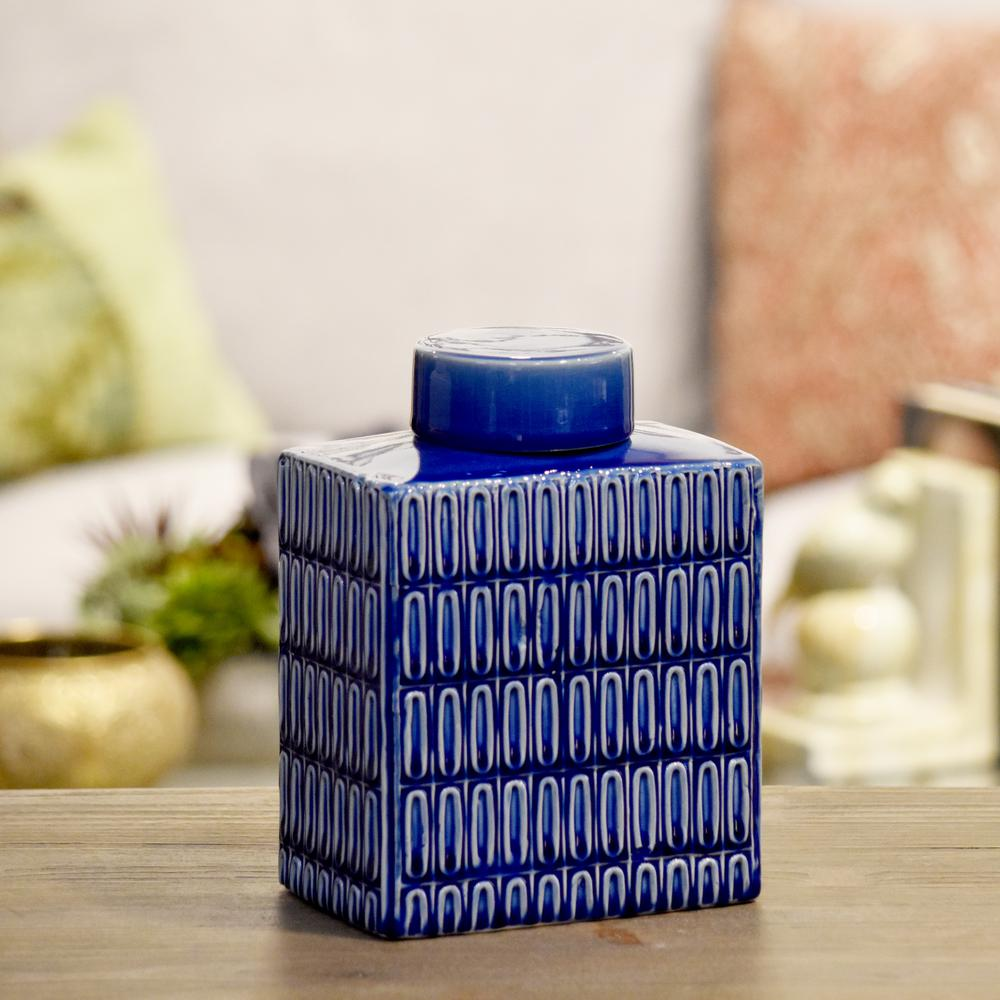 Blue Coated Finish Ceramic Decorative Vase