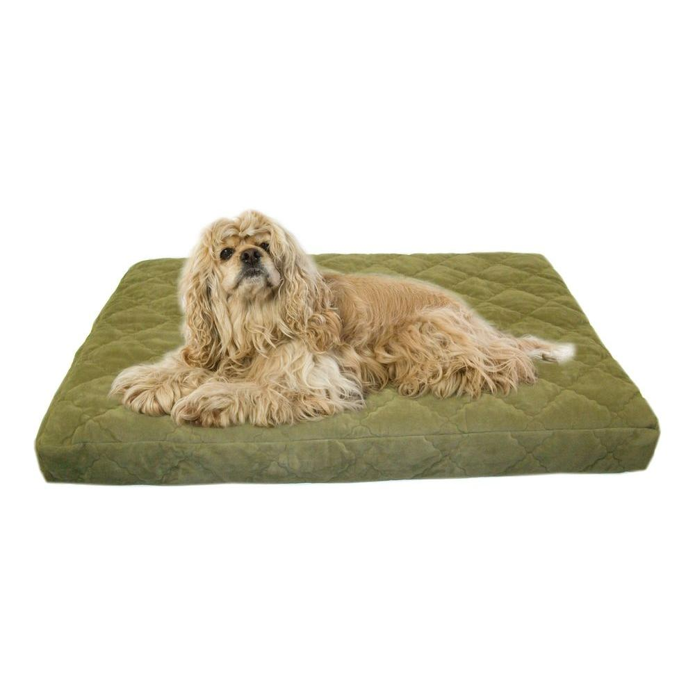 null Small Protector Pad Quilted Orthopedic Jamison Pet Bed - Sage