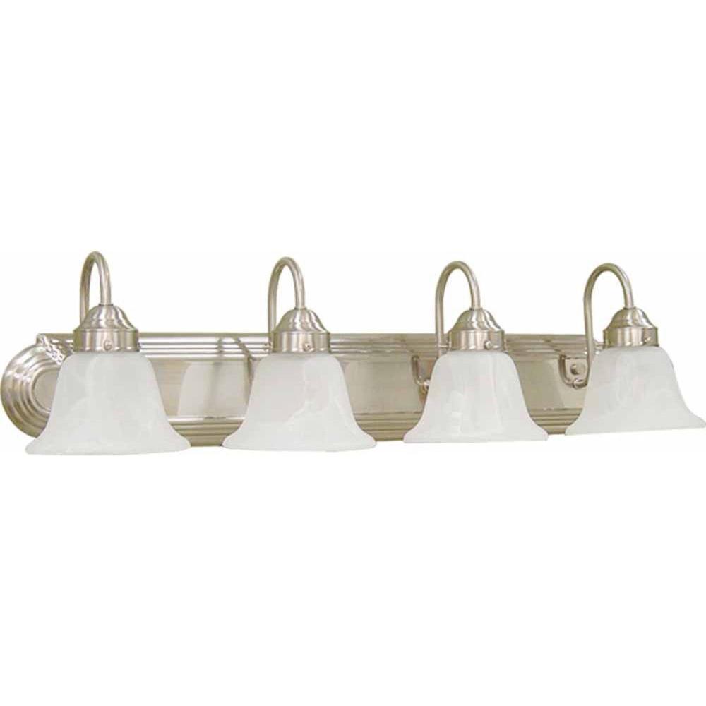 Lenor 4-Light Brushed Nickel Fluorescent Bath Vanity Light