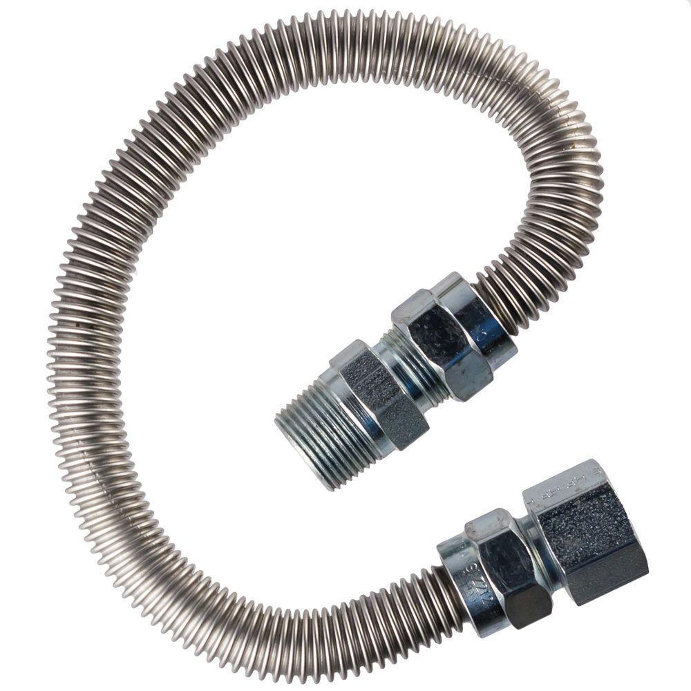 1/2 in.  MIP x 1/2 in.  FIP x 24 in.  Range Connector 5/8 in O.D.