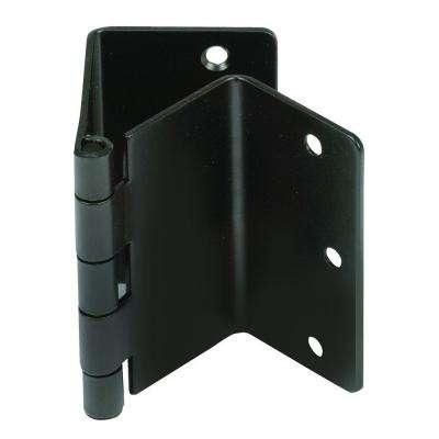 Black Expandable Door Hinge Pair