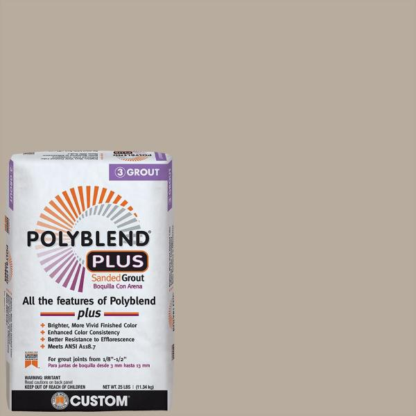 Polyblend Plus #386 Oyster Gray 25 lb. Sanded Grout