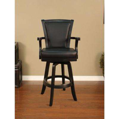 Auburn 31 in. Peppercorn Cushioned Bar Stool