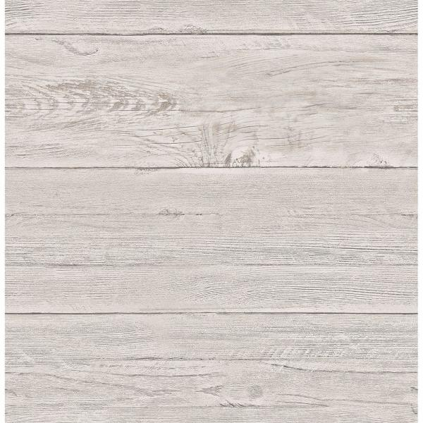 Brewster Grey White Washed Boards Shiplap Wallpaper 2701-22323