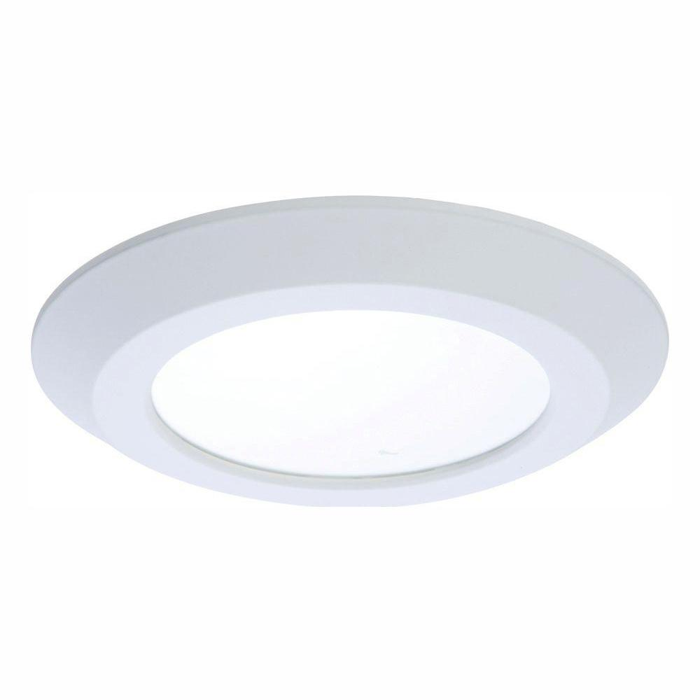 Halo 5 in. and 6 in. 2700K White Integrated LED Recessed Ceiling Flush Mount Trim at 900 Lumens Warm White