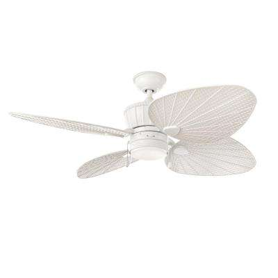Pompeo 52 in. LED Outdoor White Ceiling Fan