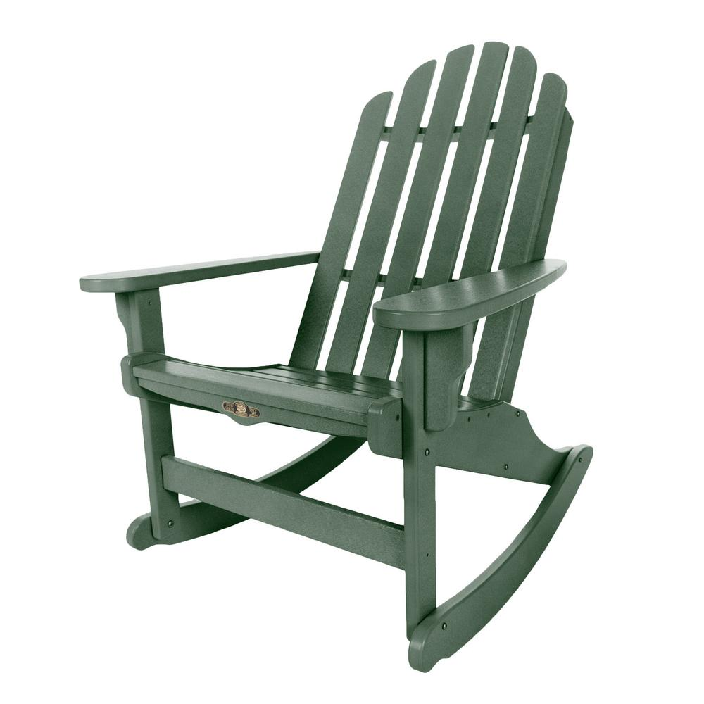 Beautiful DuraWood Essentials Adirondack Patio Rocker In Pawleyu0027s Green