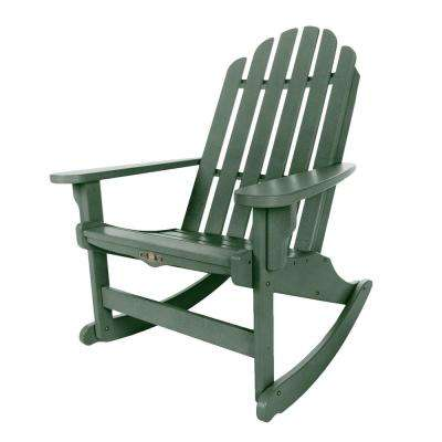 DuraWood Essentials Adirondack Patio Rocker In Pawleyu0027s Green