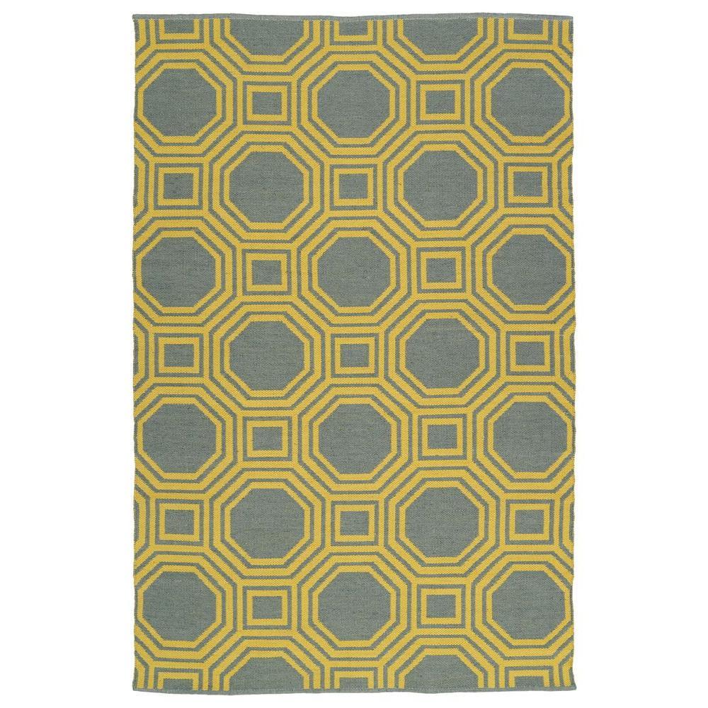 Brisa Yellow 3 ft. x 5 ft. Indoor/Outdoor Reversible Area Rug