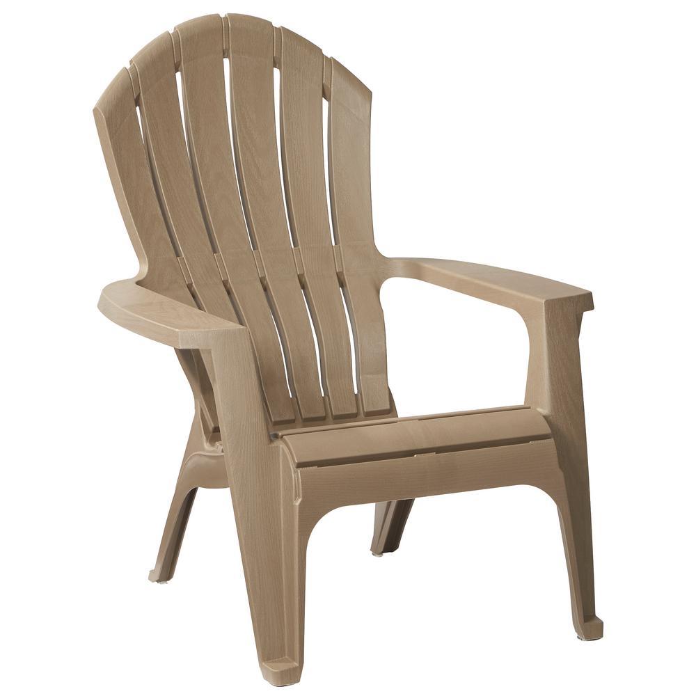 RealComfort Mushroom Patio Adirondack Chair