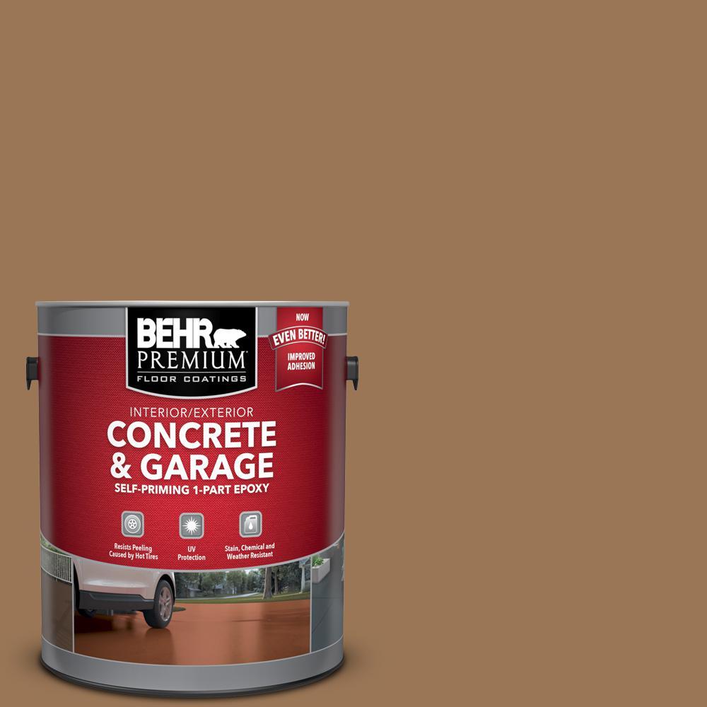 1 gal. #PPU4-02 Coco Rum Self-Priming 1-Part Epoxy Satin Interior/Exterior Concrete and Garage Floor Paint