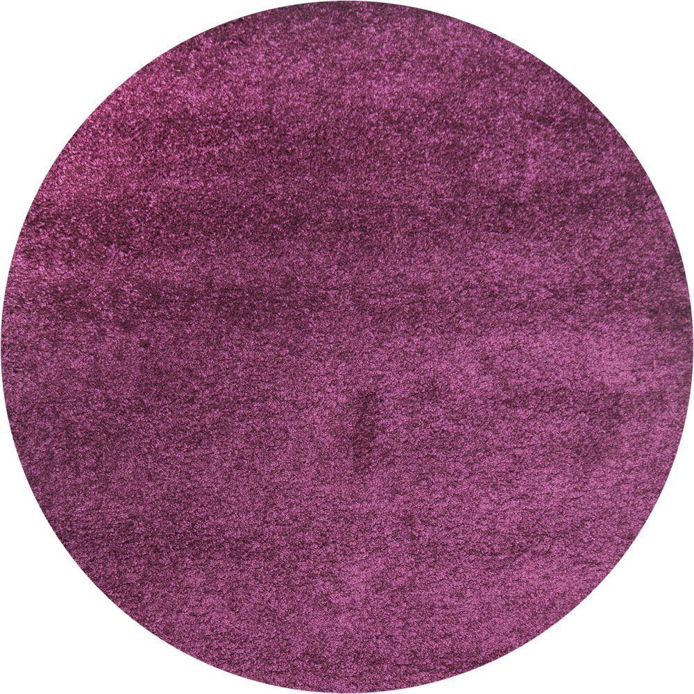 Safavieh California Shag Purple 7 Ft X 7 Ft Round Area Rug Sg151
